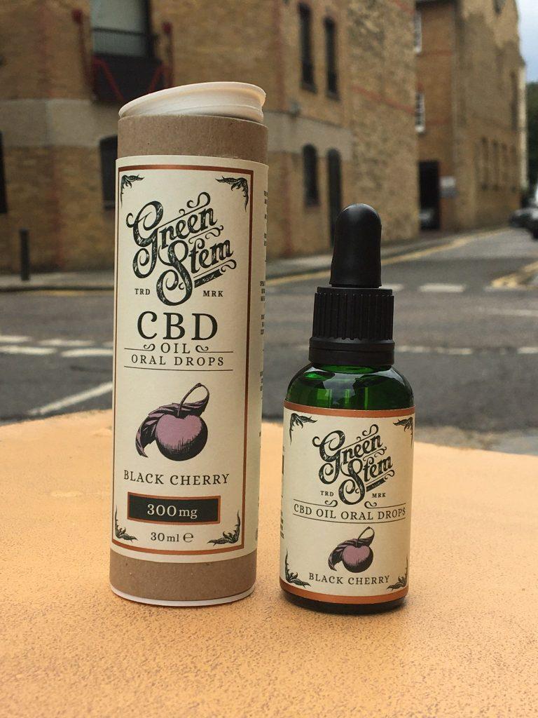 Green Stem Black Cherry CBD Oil Oral Drops and Green Stem Peppermint CBD Oil Oral Drops
